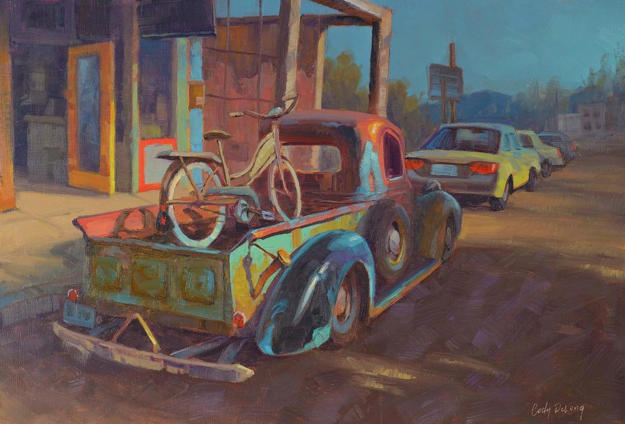 38 Ford In Jerome, Az Painting