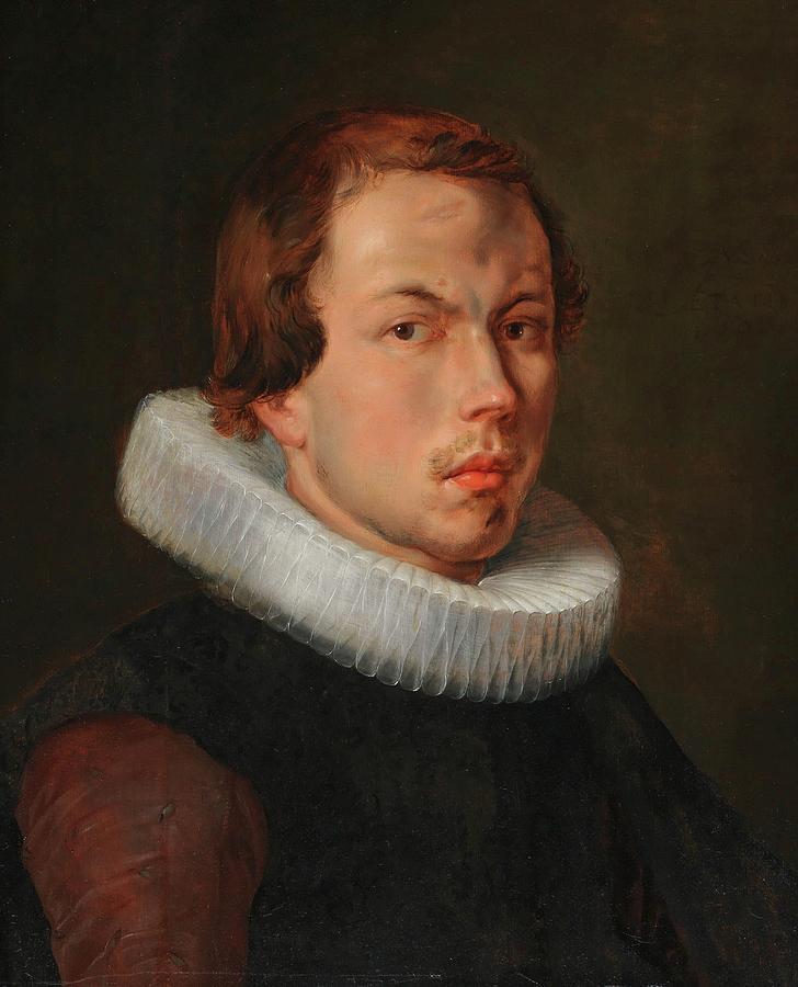 Flemish School Painting - Portrait Of A Man by MotionAge Designs