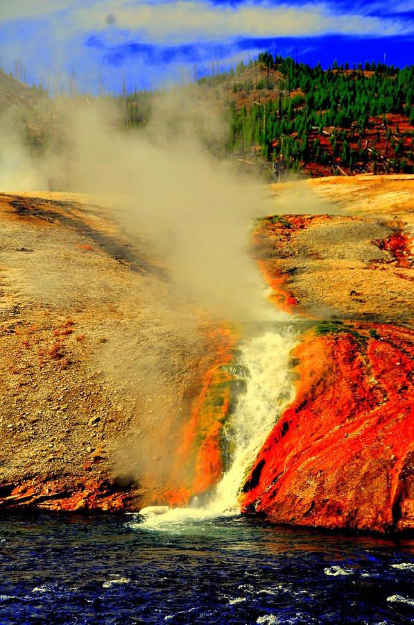 Lake View Digital Art - Yellowstone Park by Aron Chervin
