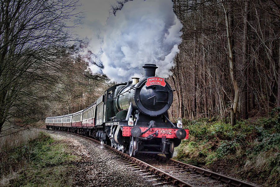 Mince Photograph - 3802 Mince Pie Special On The Llangollen Line. by Andrew Munro