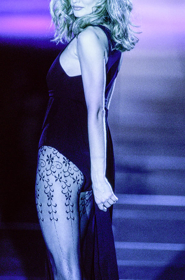 Versace Fall 1991 Rtw Show Photograph by Guy Marineau
