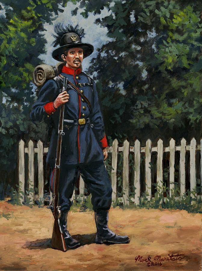 39th New York Infantry - The Garibaldi Guard 1861 Painting