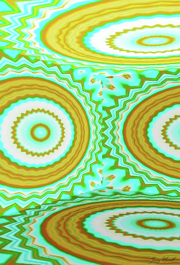 Abstract Digital Art - 3d Candy Circles  by Yamy Morrell