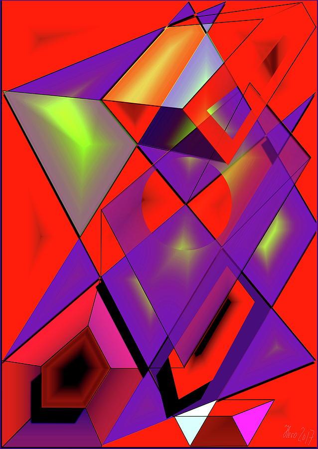Cubes Digital Art - 3d-cubes by Helmut Rottler