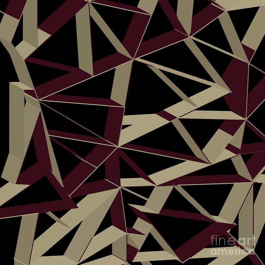 3d Futuristic Geo Lines IIi Digital Art