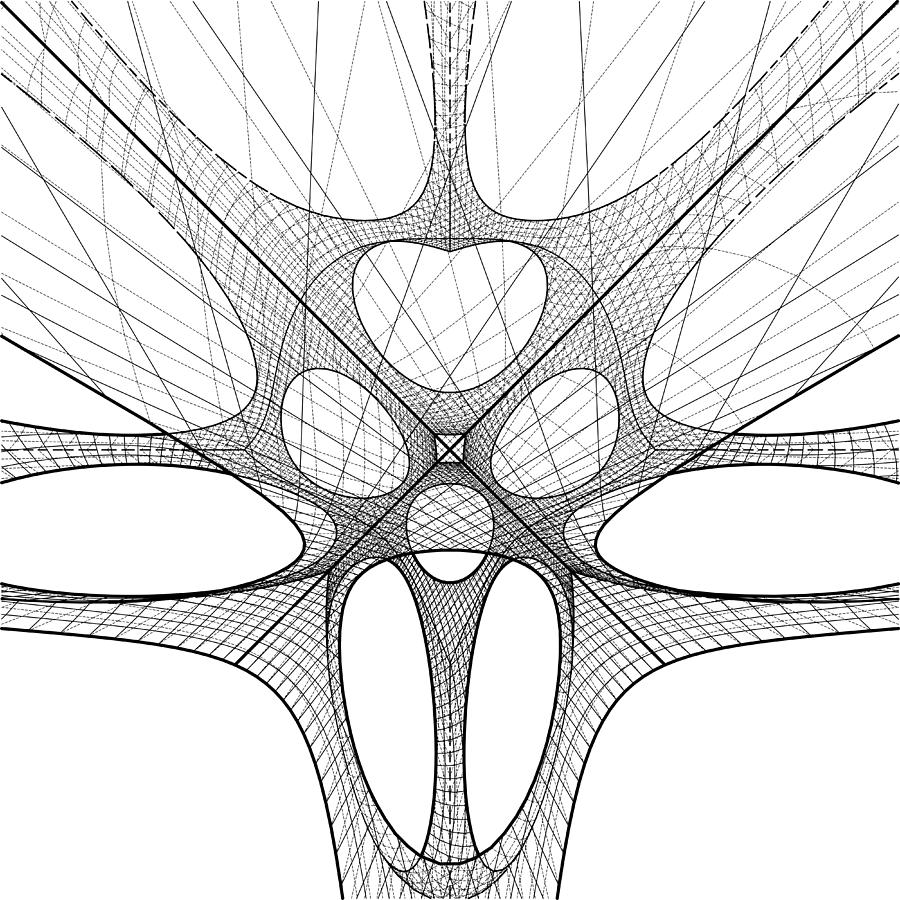3d geometric organic wireframe shape digital art by nenad cerovic