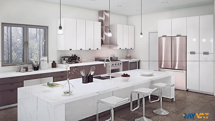 3d Kitchen Interior Rendering Photograph By Praveen
