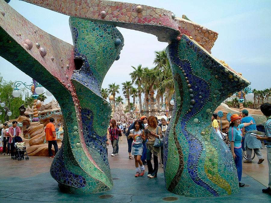 Sea Sculpture - 3d Mosaics At Tokyo Disney Sea Park by Theodora Kurkchiev