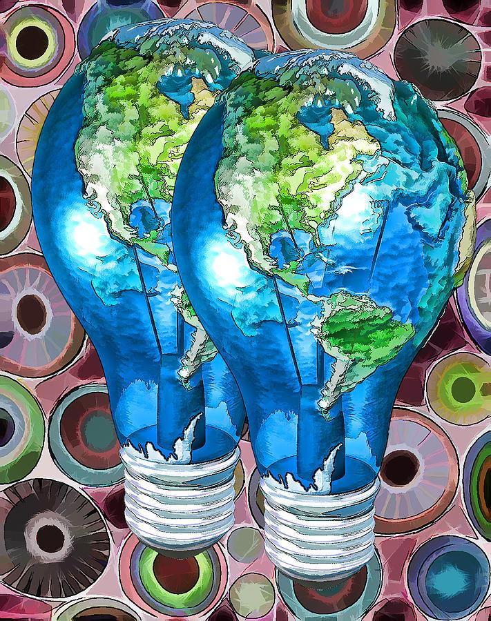 Earth Digital Art - 3d Render Of Planet Earth 15 by Lanjee Chee