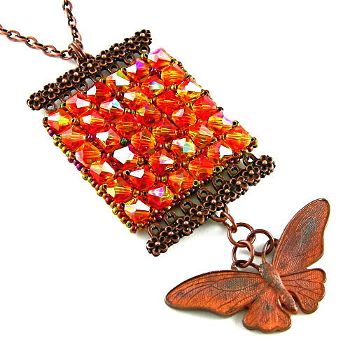 Necklace Jewelry - 3fine Design Butterfly Kisses Necklace by Tracy Behrends