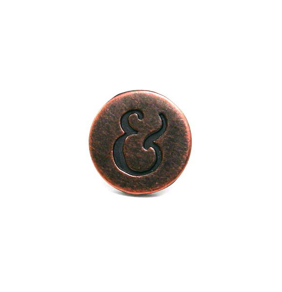 Metal Jewelry - 3fine Design Mens Ampersand Stud Earring by Tracy Behrends