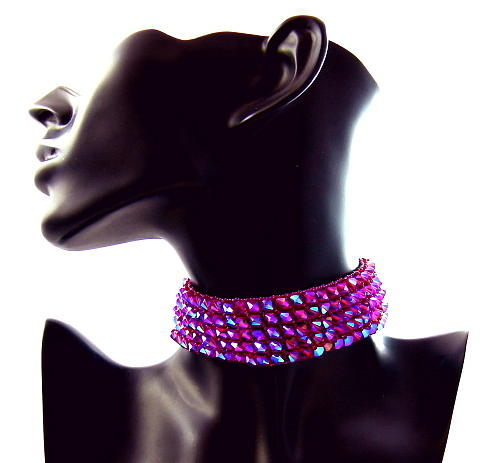 Choker Jewelry - 3fine Design Wine -n- Roses Choker by Tracy Behrends