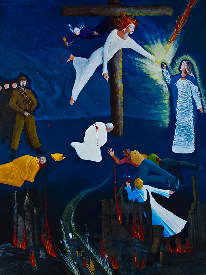 Fatima Painting - 3rd Secret of Fatima by Georgette Backs