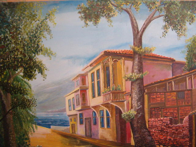 Landscape Painting - Poor And Rich by Fahrettin  Oktay