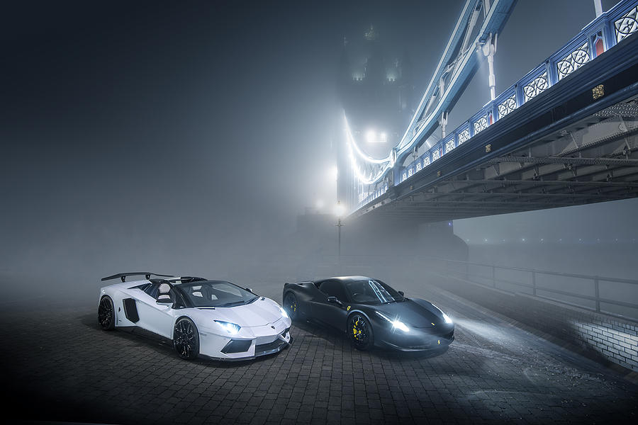 Lamborghini Photograph - A Foggy Evening In London by George Williams