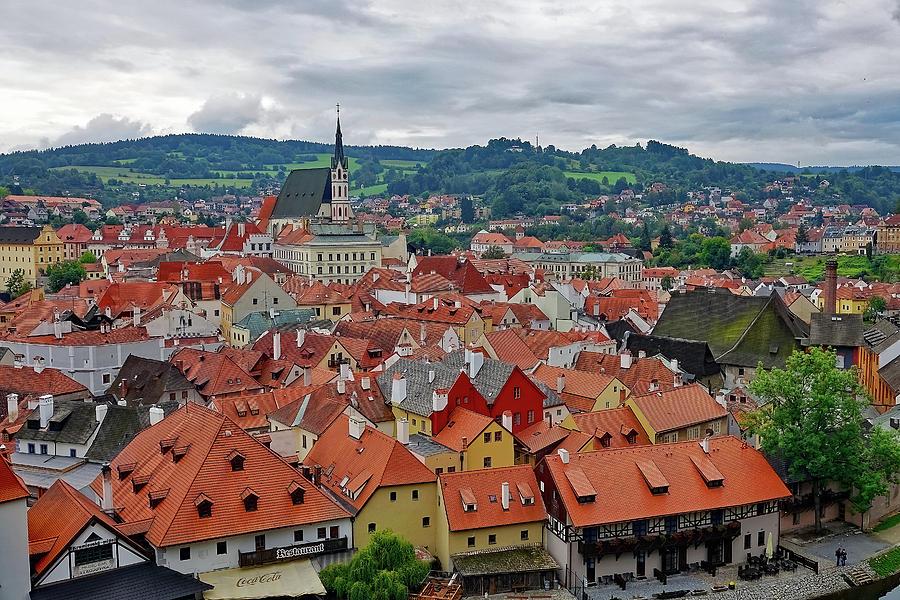 Cesky Krumlov Photograph - A View Of Cesky Krumlov In The Czech Republic by Richard Rosenshein