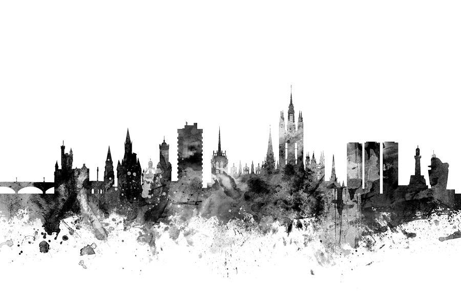 f4519f99b29a Aberdeen Scotland Skyline Digital Art by Michael Tompsett