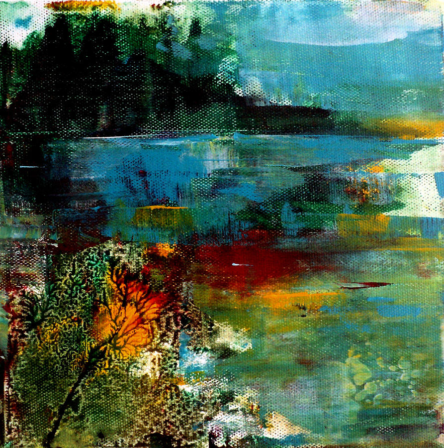 Abstract Painting - Abstract  Landscape by Nelu Gradeanu
