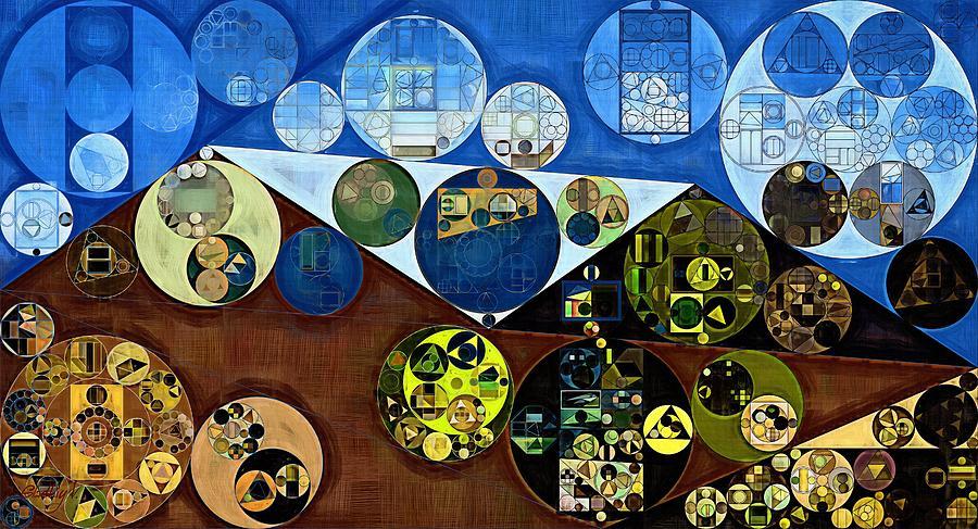 Circle Digital Art - Abstract Painting - Wood Bark by Vitaliy Gladkiy