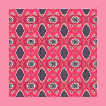 Original Pink Pattern Painting - Abstract Pattern by Mohammad Safavi naini