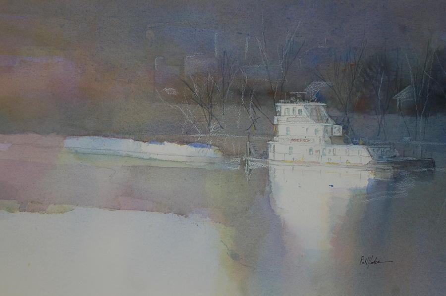 Monongahela River Painting - 4 am Mon by Robert Yonke