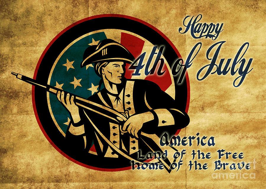 American Digital Art - American Revolution Soldier General  by Aloysius Patrimonio