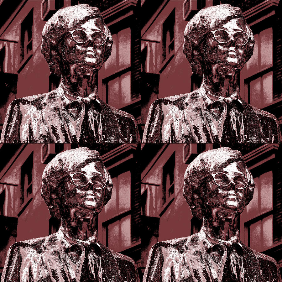 Statue Photograph - Andy Warhol Statue Union Square Nyc  by Robert Ullmann