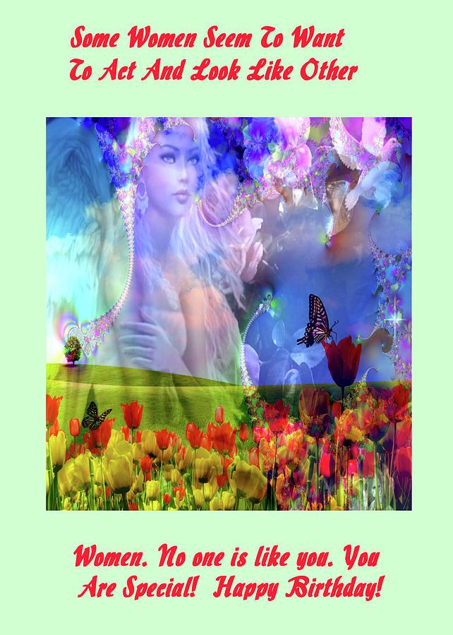 Adult Digital Art - Angel In A Field by Mitchell Watrous