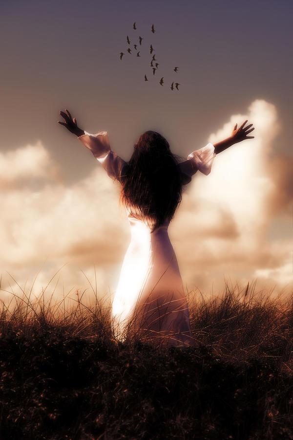 Girl Photograph - Angel by Joana Kruse
