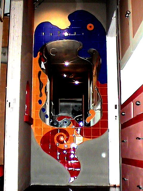 Hallway Mirror Sculpture - Architectural Art by Maurize Rios