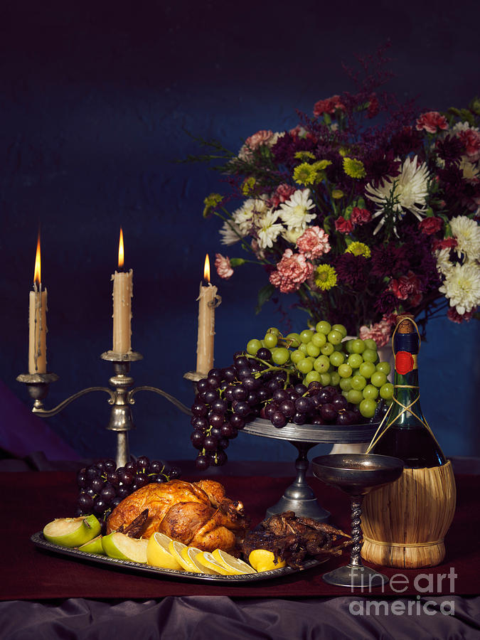 Feast Photograph - Artistic Food Still Life by Oleksiy Maksymenko