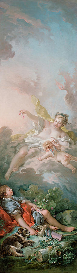 Cephalus Painting - Aurora And Cephalus by Francois Boucher