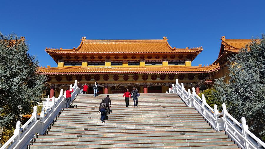 Australia - Steps To The Buddhist Temple Photograph by ...