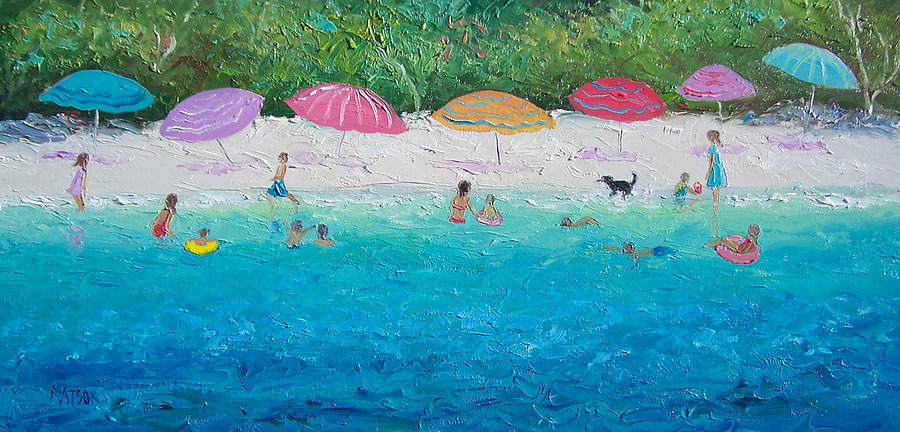 Beach Painting - Beach Umbrellas by Jan Matson
