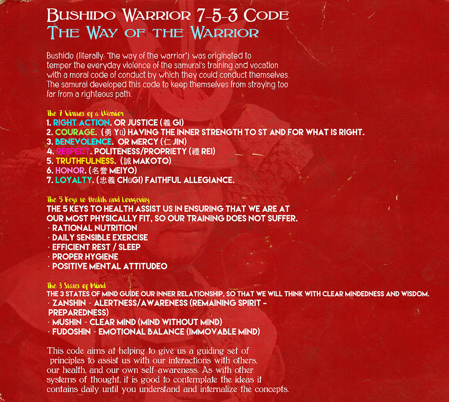 Bushido Warrior 7 5 3 Code The Way Of