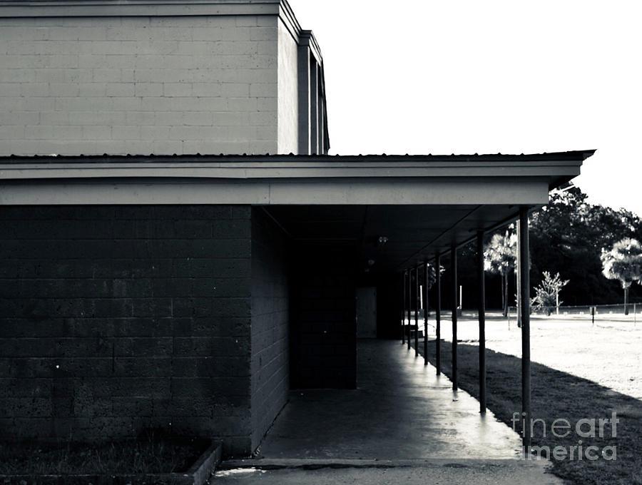Landmarks Photograph - 4 Bw George Washington High School by Olga Burt