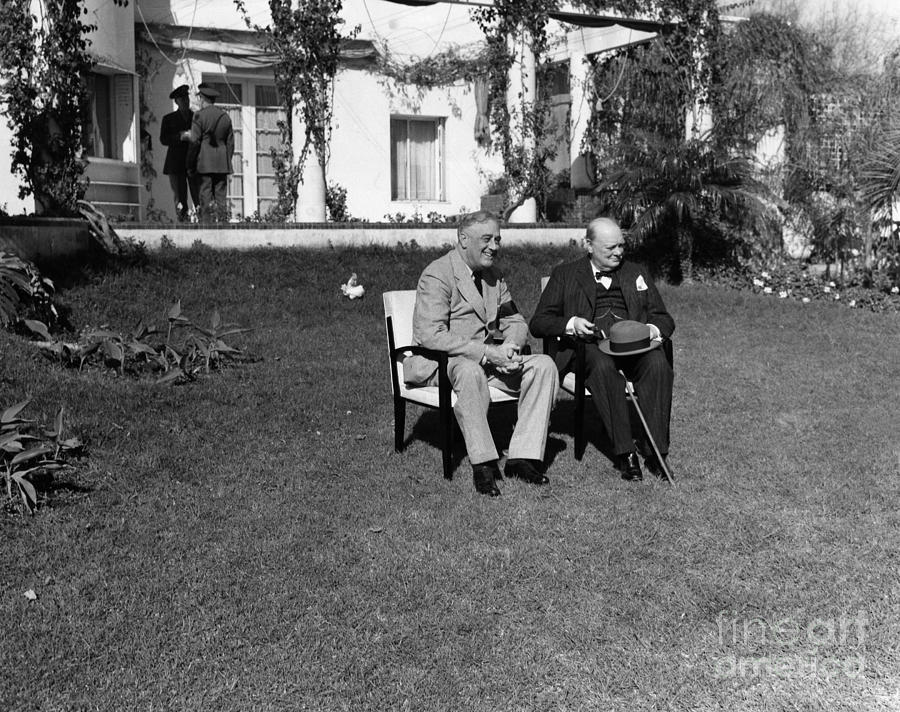 1943 Photograph - Casablanca Conference by Granger