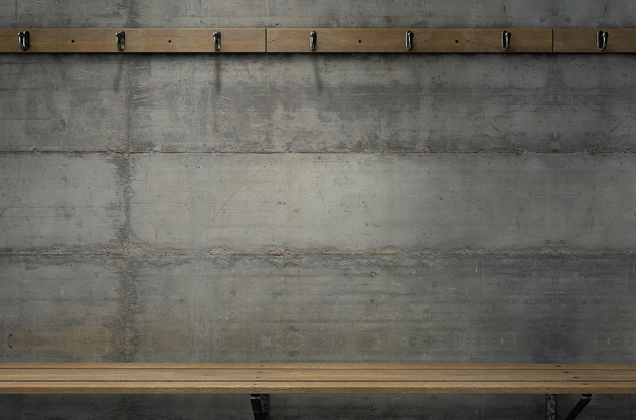 Locker Room Digital Art - Change Room Hangers And Bench 4 by Allan Swart