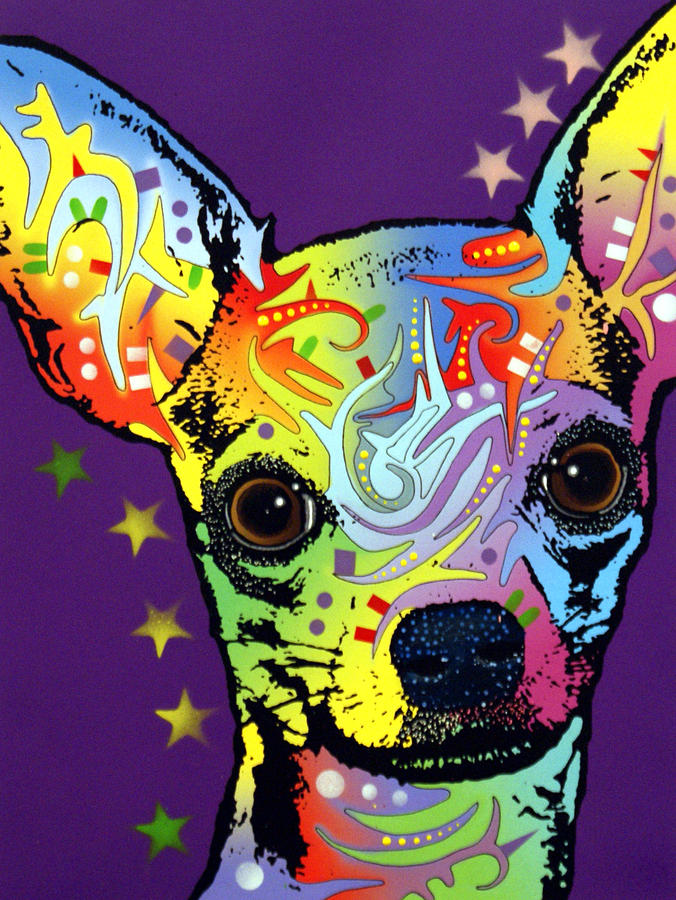 Dean Russo Painting - Chihuahua Warrior by Dean Russo Art