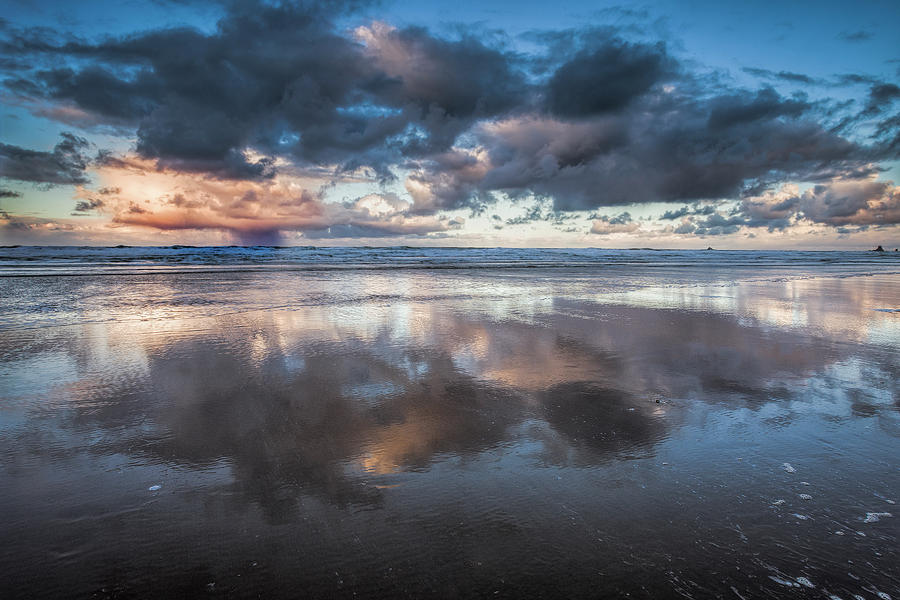 Clouds Photograph - Coastal Reflections by Andrew Soundarajan