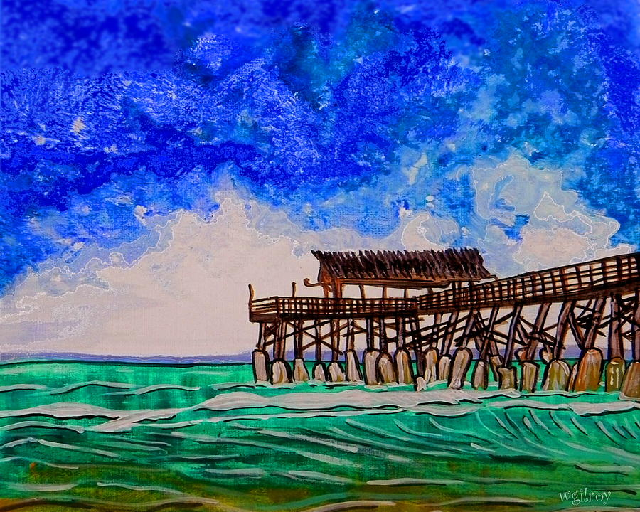 Nature Painting - Cocoa Beach Pier by W Gilroy