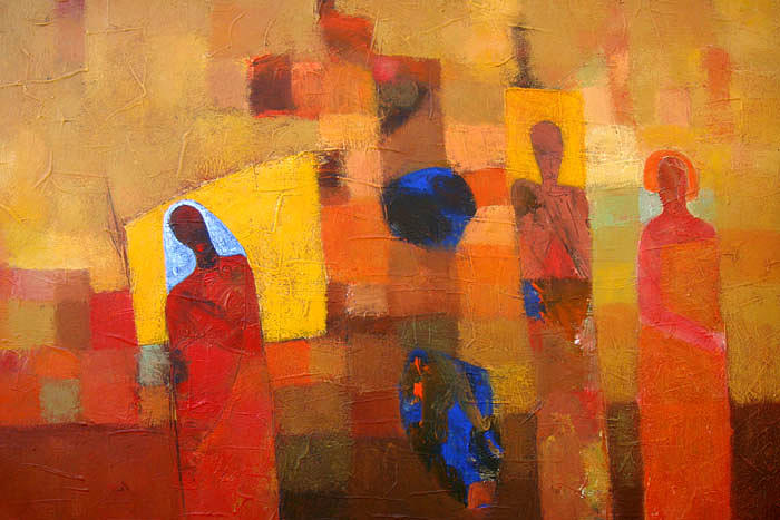 Composition Painting by Ronex Ahimbisibwe
