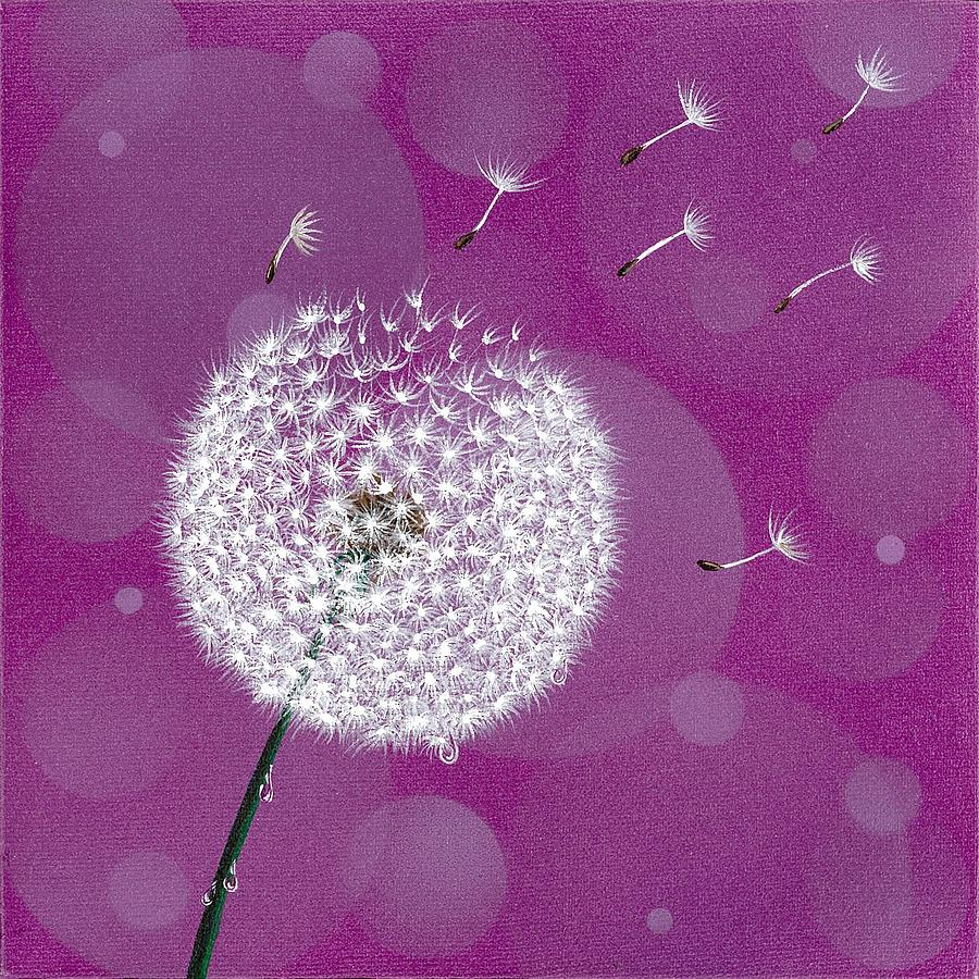 Landscape Painting - Dandelion Flying by Suntaree Nujai