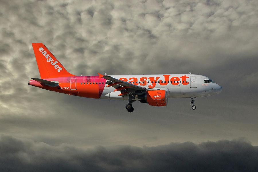 Easyjet Photograph - Easyjet Tartan Livery Airbus A319-111 by Smart Aviation