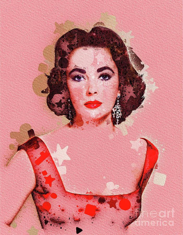 Elizabeth Taylor, Movie Legend Digital Art