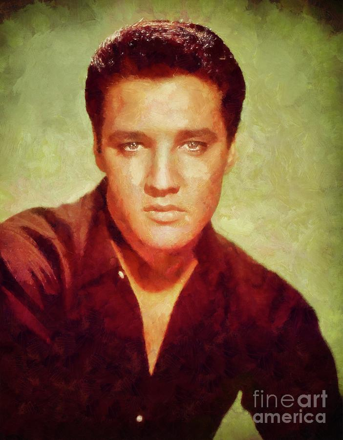 Elvis Presley, Rock And Roll Legend Painting