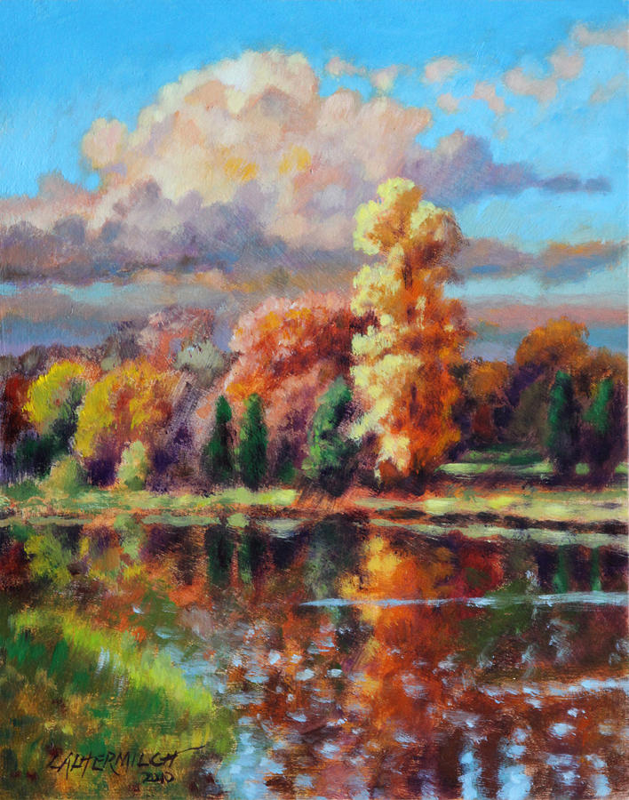 Fall Scenery Painting - Fall in Missouri by John Lautermilch
