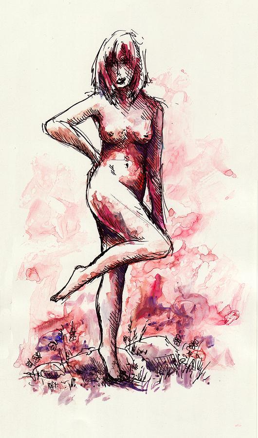 Figure Drawing - Figure Study by Rachel Christine Nowicki