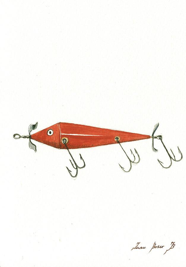 Fishing Lure Painting - Fishing Lure  by Juan Bosco