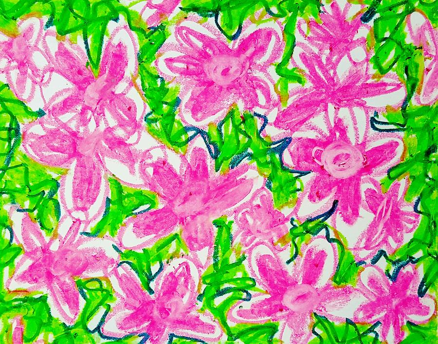 Abstract Flower Drawing - Flower Abstract  by Hae Kim